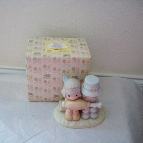 Precious Moment 1986 Brotherly Love Figurine Box
